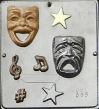 Comedy Tragedy Drama Theater Faces Chocolate Candy Mold  585 NEW