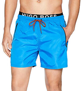 Hugo Boss thornfish Bathing Pants Mens Swimming Shorts Two-Layer Swimwear Blue
