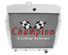 1957 58 59 1960 Ford F-100 3 Row Champion ADV Radiator w/ Chevy Configuration