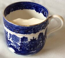 Blue Willow Mustache Cup