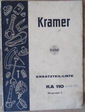 Kramer Ersatzteilliste KLS 110