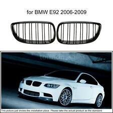 For BMW E92 2006-2009 1 Pair Double Line Gloss Black Front Grille Grill