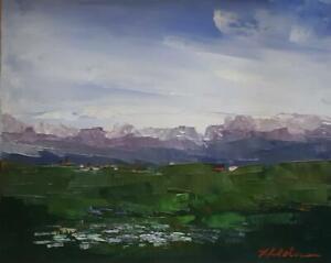 Original Landscape, Impressionism, Acrylic, signed, Michele Helders