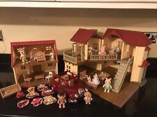 Sylvanian Families Beechwood Hall House Furniture Figures Toy Bundle Job Lot Set