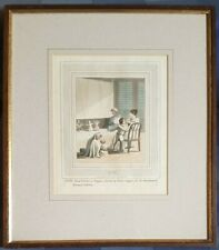 CHARLES DOYLEY (D'OYLY) ORIGINAL ENGRAVED COLOURED PLATE, EUROPEAN IN INDIA.