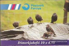 Denmark-Faroe Islands MH15 mint never hinged mnh 1998 state bird