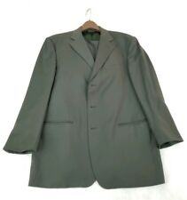 Pronto-Uomo Firenze Italy Olive Green Rodina High Twist 100% Wool 44SH 2 Suit