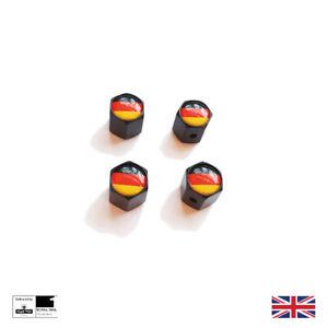 German Flag Dust Caps For VW BMW Audi Mercedes Black
