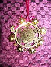Vintage die cut filigree 3D  snowflake intricate details ornament gold CHRISTmas