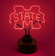 MISSISSIPPI STATE BULLDOGS NEON SIGN LIGHT LAMP MSU UNIVERSITY MAN CAVE OFFICE