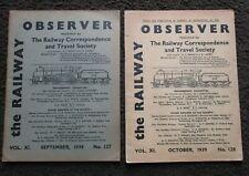More details for 2 x the railway observer magazine september & october 1939 - nos 127 & 128