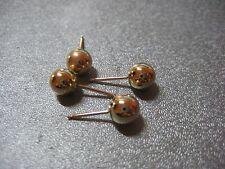 14K Gold Filled Ball Earring Post 6mm 4pcs