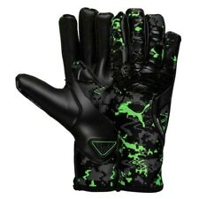 Puma Goalkeeper Gloves Future Grip 19.1 Black/Green Gecko Hacked Size 10 Soccer