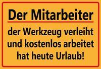 Mitarbeiter Blechschild Metallschild Schild gewölbt Metal Tin Sign 20 x 30 cm