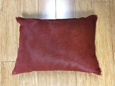 .DECORATIVE RED CUSHION BY LATIN AMERICAN DESIGN-HOUSE CUEROS LATINOS