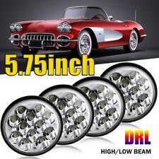 4pcs CREE 5.75 5-3/4 Round LED Headlights Halo Hi-Lo For Chevy Corvette Chevelle