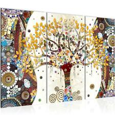 Wandbilder Set XXL Modern | Gustav Klimt Baum des Lebens Wohnzimmer Schlafzimmer