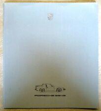 PORSCHE - 924S - CAR SALES BROCHURE (GERMAN TEXT) - 1986 - # 103 110