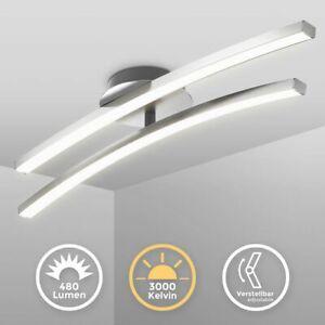 LED Design Deckenleuchte Wohnzimmer modern Deckenlampe Aluoptik schwenkbar 12W