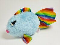 "Vtg Acme Plush Rainbow Fish Baby Blue Stuffed Animal Prize Toy 1985 Lady 9"" 5a"