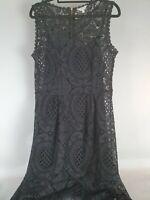 Khoko Black Lace After Five Black Dress Sz 10