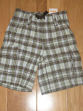 NEW Gymboree Plaid for Spring Size 4 Boys Shorts Brown White Green NWT