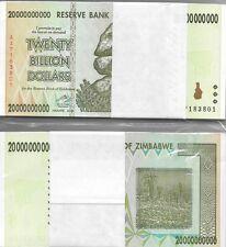 20 BILLION ZIMBABWE DOLLARS, 2008,Uncirculated, MONEY,BUNDLE*10 50 100 TRILLION*