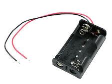 Aa X 2 abierto sostenedor de batería Caja 15cm Cables