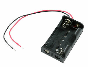 AA x 2 Open Battery Holder Box 15cm Wires