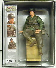 Finished Figure Us Captain Infantry Wk II Sitting, Torro, 1:16, New