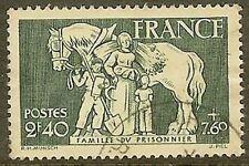 "FRANCE TIMBRE STAMP N°586 "" FAMILLE DU PRISONNIER 2F40+7F60 "" OBLITERE TB"