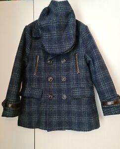 Boys Brown Tweed Coat And Flat Cap Wool Age 6-7 Years Couche Tot