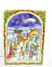 Vintage Mailable RS Stuttgart Cardboard German Advent Calendar w/ Envelope NIP!