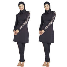 New Women Long Sleeve Muslim Islamic Full Cover Costumes Modest Swimwear Burkini