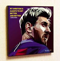 Lionel Messi Painting Decor Print Wall Art Poster Pop Canvas Quotes Barcelona