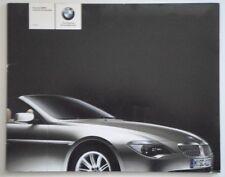 BMW 6 SERIES CONVERTIBLE 2003 UK Mkt Sales Brochure - 645 Ci
