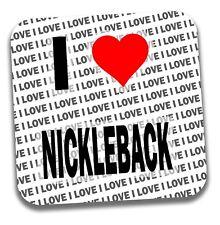 I Love Nickleback Drinks Coaster - Gift - Birthday - Stocking Filler