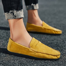 Mens Colorful Slip On Loafers Flat Driving Casual Suede Gommino Outdoor Shoes