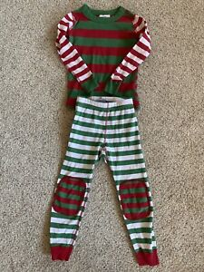 Hanna Andersson Striped Holiday Christmas Pajamas 100cm US 4