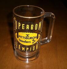 STEELERS 1976 SUPER BOWL X CHAMPIONS GLASS BEER MUG