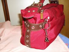 K/CROSS BRAND Ladies handbag deep red with dog on clip RRP $69 commuter bag