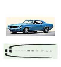 1969 Camaro SS 350-396 DECAL 1/64 scale  AFX Tyco Lifelike Autoworld