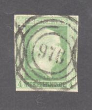 PRUSSIA STAMP #1--  4pf KING WILLIAM -- DARK GREEN -- 1856 -- USED