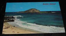 Vintage Postcard Rabbit Island Oahu Hawaii Makapuu Beach