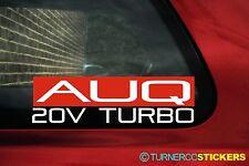 AUQ 20v Turbo sticker for 1.8T Audi A3 / Octavia VRS / Seat Leon Cupra mk1 (1M)