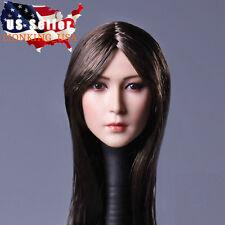 1/6 Asian Female Head Sculpt Long Hair For Phicen Hot Toys Female Figure ❶USA❶