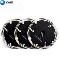 3Pcs 5'' Turbo Diamond Cutting Disc Saw Blade Wheel for Granite Marble Concrete