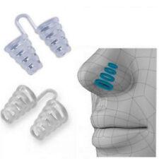 2 Pcs Anti Snore Breathe Easy Sleep Aid Reusable Nasal Dilators Cones Nose Clip
