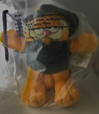 "Garfield 1978 Plush Vintage w/Tags Fishing  Angler  10.5"" Fine Toy Co NEW"