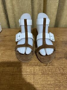 Women's Soft Suede/leather Sandals By rmk, New, Size 37, Innersole 24.5 cm